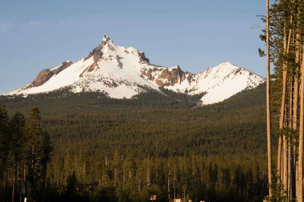 South side of Mt thielsen in the summer