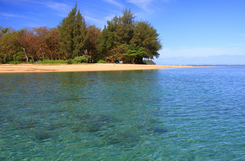 Crystal Clear waters of Anini Beach Kauai Hawaii