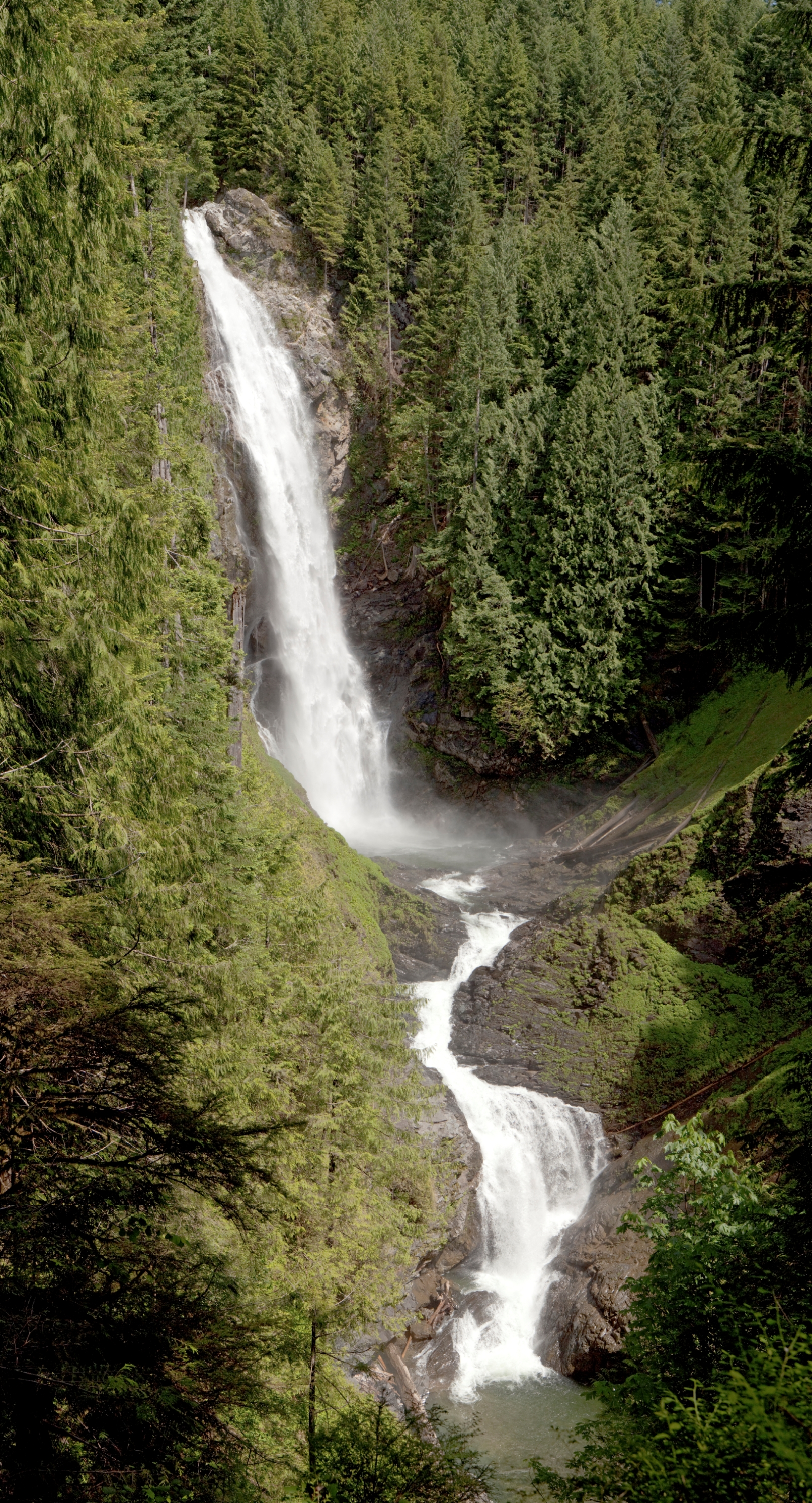 Overview of Wallace Falls in its entirety