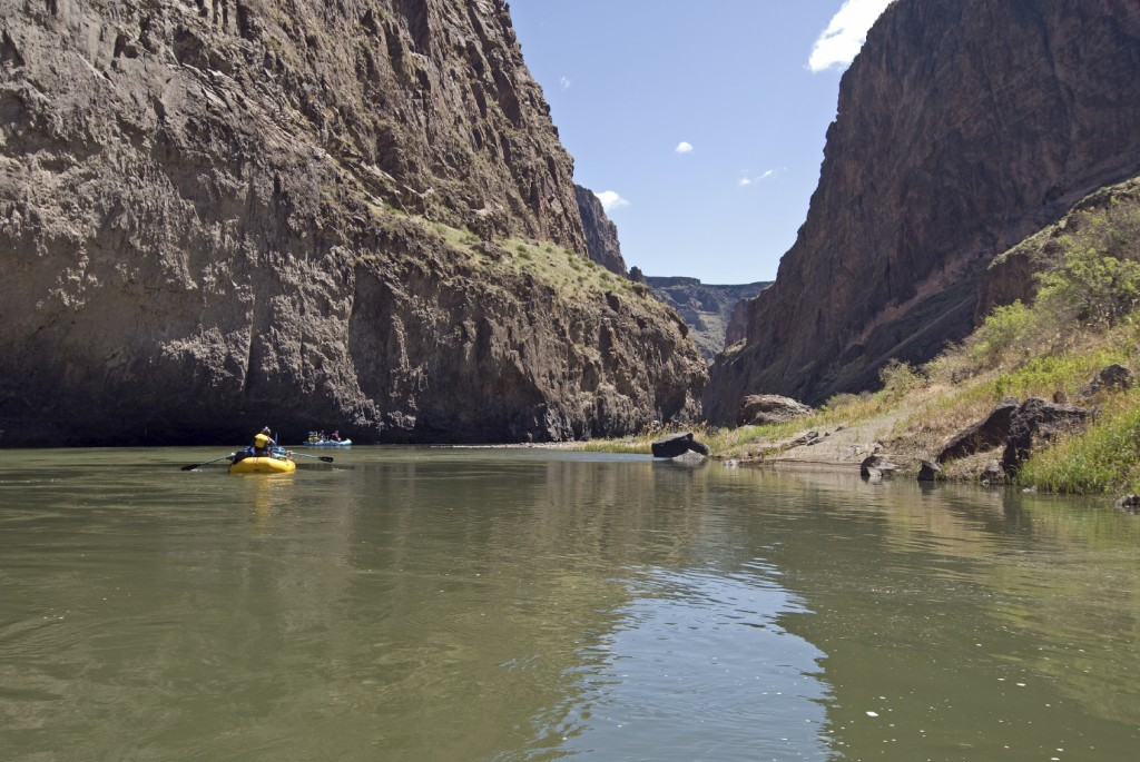 rafters on the Lower Owyhee river in Oregon